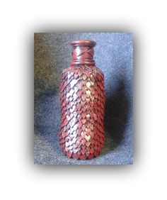 Red dragon vase, sculpted polymer clay over glass by LeftHandAsylum on Etsy https://www.etsy.com/listing/239759987/red-dragon-vase-sculpted-polymer-clay