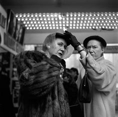 Photo by Vivian Maier, 'Well to do ladies in coats & hats' New York, March 1954 (please follow minkshmink on pinterest.
