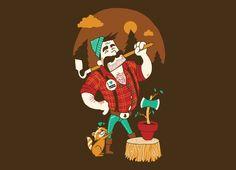"hahahaha // ""Green Thumberjack"" - Threadless.com - Best t-shirts in the world"