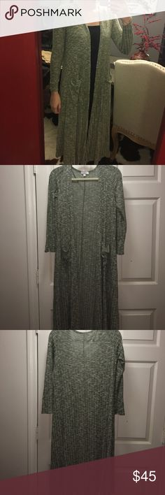 LuLaRoe Sarah Gray Cardigan In excellent condition. So comfy!! LuLaRoe Sweaters Cardigans