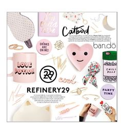 """""""Upgrade Your Chic With Refinery29"""" by sabbbycat ❤ liked on Polyvore featuring interior, interiors, interior design, home, home decor, interior decorating and ban.do"""