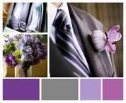 purple and grey wedding color palette.