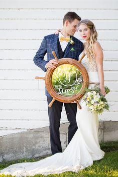 Vintage Nautical Styled Shoot - Heirloom Events and Decor Vintage Nautical, Nautical Wedding, Vintage Decor, Nautical Fashion, Nautical Style, Ship Wheel, Beach Themes, Summer Wedding, Wedding Styles