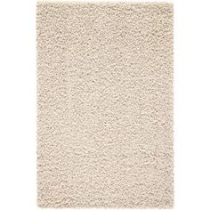 Mainstays Polyester Shag Area Rugs or Runner, Beige