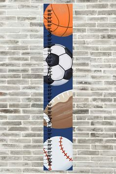 Sports Growth Chart Height Chart Navy Green by FrogsAndFairytales