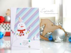 My new Winter Card for Christmas present with snowman and bird =)