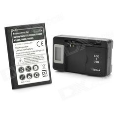3800mAh Li-ion Battery w/ 0.8 LCD USB Charger + Adapter for Samsung Galaxy Note 3 N9000 + More