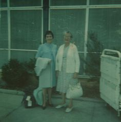 With Mum at Essendon Airport ~ 1967.