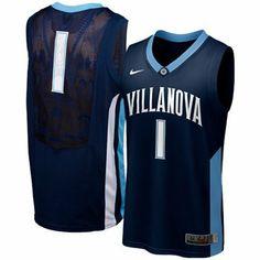 6117236e577 Nike Villanova Wildcats  1 Elite Replica Aerographic Basketball Jersey -  Navy Blue