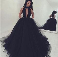 Sexy Long Black Prom Dress ,Unique Design Open Back Formal Dress ,Floor Length Evening Dress,Charming Prom Party Gowns,Formal Dress