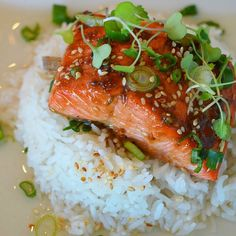 """""""Had a few request to post my BROILED MISO SALMON recipe again.  Easy, salmon done in the oven in 5-6 minutes with just a few ingredients!  Ingredients:…"""""""
