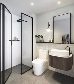 'Minimal Interior Design Inspiration' is a weekly showcase of some of the most perfectly minimal interior design examples that we've found around the web - all Interior Design Examples, Interior Design Inspiration, Interior Ideas, Style Inspiration, Corner Sink Bathroom, Small Bathroom, Bathroom Green, Bathroom Sinks, Washroom