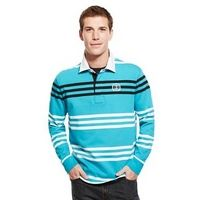 Blue Harbour Pure Cotton Slim Fit Triple Engineered Striped Polo Shirt