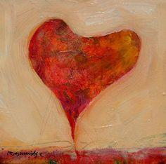 Small Heart Painting by Robert Burridge