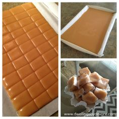 I& always wanted to make homemade caramels, but I& always been too intimidated to try. Then I got my latest issue of Martha Stewart ma. Caramel Recipes, Candy Recipes, Sweet Recipes, Dessert Recipes, Yummy Recipes, Just Desserts, Delicious Desserts, Yummy Food, Homemade Candies