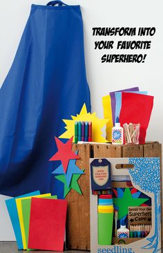Design your very own superhero cape! Saving the world just got a little more fun! Find more superhero toys and activity kits at www.seedling.com