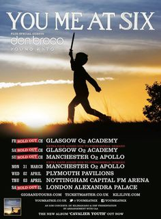 Don Broco have just announced that they will be supporting the lads in You Me At Six on their upcoming UK tour. Excited much! Capital Fm, Tour Posters, Indie Pop, Latest Albums, Band Merch, Special Guest, Glasgow, Rock Bands, You And I