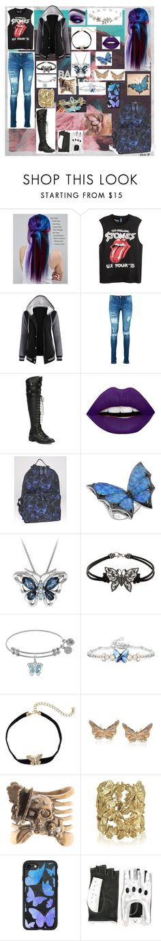 """Butterfly Star"" by tachigirl101 ❤ liked on Polyvore featuring Manic Panic NYC, Boohoo, Joie, LunatiCK Cosmetic Labs, Valentino, Stephen Webster, Kenneth Jay Lane, Ross-Simons, Alexander McQueen and Bernard Delettrez"