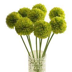 Iuhan 5pcs Lavender Ball Artificial Silk Flowers Bouquet Home Wedding Party Decor (Green)