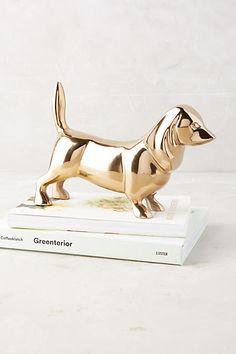 Golden Dachshund Decorative Object - anthropologie.com