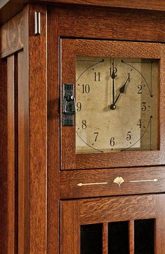 Storage Cabinet Clock   With Glass Door And Shelves Picture 2