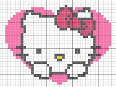 valentines hello kitty cross stitch chart