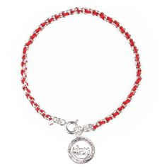 """Kabbalah Red String Bracelet woven in Silver with 72 Sacred Names of God Coin Lucky Charms USA. $29.95. Great and meaningful gift idea. Traditional Kabbalah Red String Bracelet For Protection. Fast reliable shipping. Included is the """"Ben Porat"""" prayer and wearing instructions.. Available in variety of sizes and charms"""