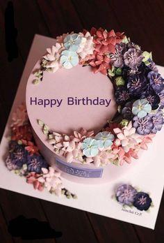 Happy Birthday Donna, Happy Birthday Flower Cake, Funny Happy Birthday Song, Cartoon Birthday Cake, Birthday Wishes With Name, Birthday Wishes Flowers, Birthday Cake With Photo, Birthday Wishes Cake, Happy Birthday Cake Images