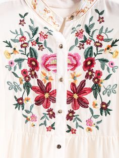 To find out about the Apricot Long Sleeve Embroidered Dipped Hem Blouse at SHEIN, part of our latest Blouses ready to shop online today! Indian Gowns Dresses, Indian Fashion Dresses, Boho Fashion, Fashion Styles, Embroidery Fashion, Embroidery Dress, Hand Embroidery Stitches, Embroidery Designs, Hijab Collection