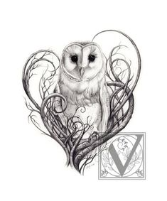 Barn Owl Print, Owl Art, Owl Print, Limited Edition Giclée Print, Pencil Drawn Owl Art For The Home Schleiereule Drucken Eulen Digitaldruck in von Lunarianart Future Tattoos, Love Tattoos, Beautiful Tattoos, Body Art Tattoos, New Tattoos, Tatoos, Circle Tattoos, Incredible Tattoos, Anchor Tattoos