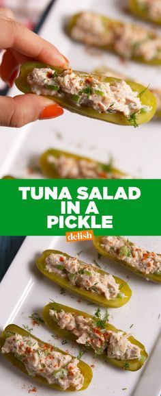 Pickle Lovers, this is the low-carb lunch of your dreams. Get the recipe from Delish.com.