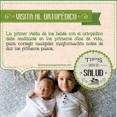 La primer visita de los bebés con el ortopédico debe realizarse en los primeros días de vida. #TipsExpress