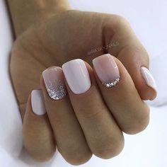 130 glitter gel nail designs for short nails for spring 2019 page 20 - Nageldesign - Nail Art - Nagellack - Nail Polish - Nailart - Nails - Nagel Cute Nail Art Designs, Short Nail Designs, Winter Nail Designs, Acrylic Nail Designs, Shellac Nails, Glitter Nails, Manicures, Nail Polish, Nail Gel