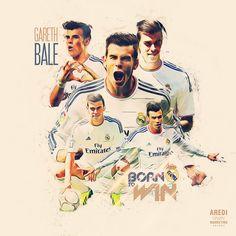 Gareth Bale, Real Madrid, football, sport, illustration, poster, design, sports media, soccer, graphic, social, AREDI, #sportaredi