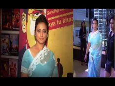 Divya Dutta in a revealing transparent saree at the screening of MANJUNATH.