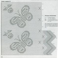 Vlinder gordijn haken met dit diagram
