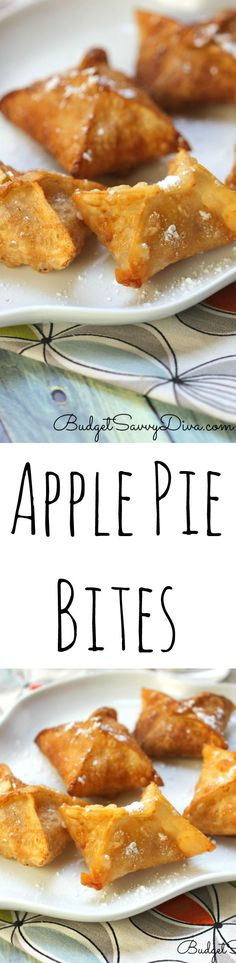 Apple Pie Bites - my whole family loved this recipe - it is a copy cat McDonald Apple Pie Recipe