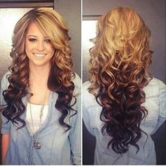 Beautiful ombre and curls