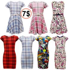 GIRLS KIDS BRIGHT RETRO MIDI BODYCON STRIPED PARTY DRESS PINK PURPLE AGE 7-13