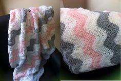 How To Crochet Ripple Afghan aka Wave or Ripple. for my grandbaby :)
