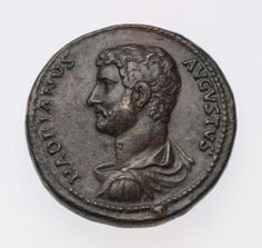Medallion with bust of Hadrian, Roman, Imperial Period, about A.D. 131–132 .