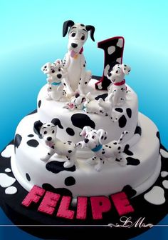 101 Dalmatian Cake. Dominic loved doggies so much, I have to get him a Dalmatian birthday cake!