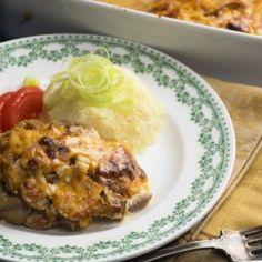 Gombás-sajtos tepsis hús újhagymával Chef Gordon Ramsay, Healthy Recepies, Hungarian Recipes, Hungarian Food, My Recipes, Baked Potato, Pork, Beef, Breakfast