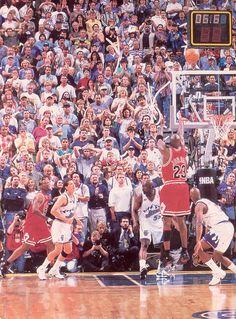 Sad Memories... Michael Jordan championship game-winning shot against Utah Jazz in Game 6 of 1998 NBA finals