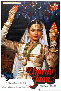 Rekha sizzled in this screen-adaptation of the 1905 book, Umraao Jaan Ada, based on the life of a courtesan from Lucknow.