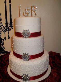 Christmas Wedding  Cake by Marie 2 U Cakes on Facebook