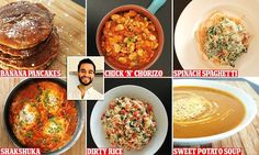 Cook shares his £18 a week meal plan (where the dishes are 86p each)