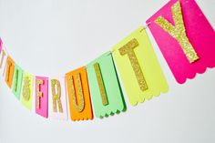 TWOTTI-FRUITY 2nd Brithday Banner / pineapple / Fruit Themed Birthday Decor by PopFizzHooray on Etsy
