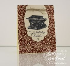 Elegant Birthday Wishes Stampin Up Card By Andrea Walford