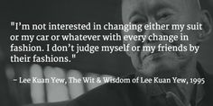 Lee Kuan Yew's thoughts and sayings (Background photo: Associated Press)